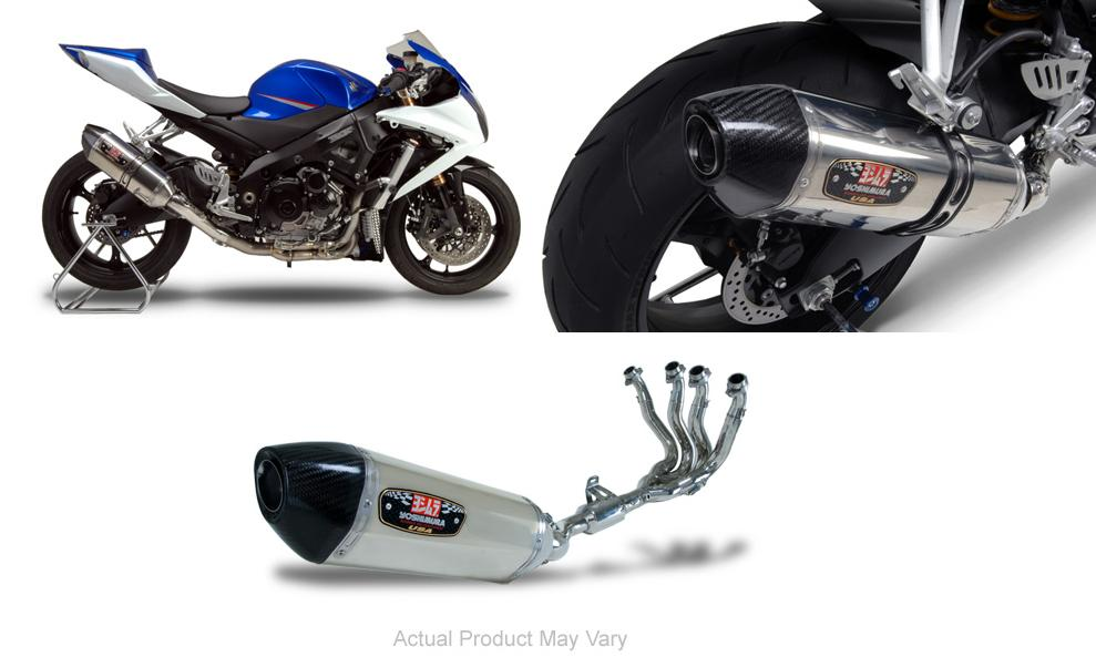 Yoshimura R-77 Stainless/Stainless Full Exhaust System W/ Stainless End Cap 07-08 Suzuki GSXR 1000