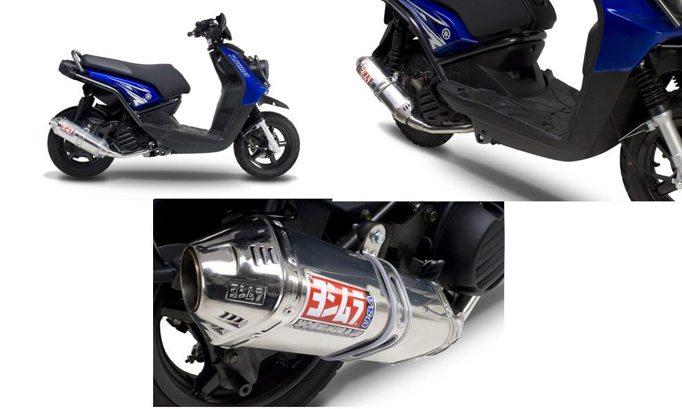 Yoshimura R-77 Stainless/Stainless Full Exhaust System W/ Carbon Fiber End Cap 09 Yamaha Zuma