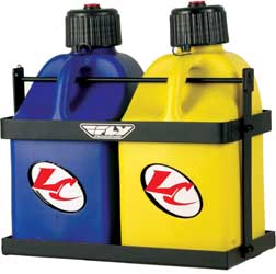 Fly Racing 2 JUG FUEL RACK Black