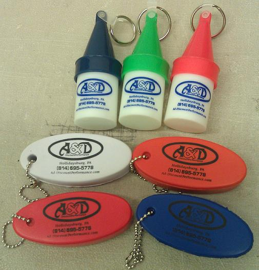 A&D Discount Performance Floating Key chain lanyards & Spark plug holders