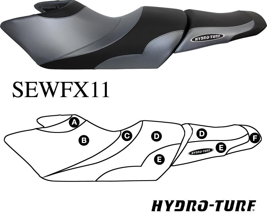 Hydro Turf Seat Cover For Yamaha FX SHO + HO (12 -13)