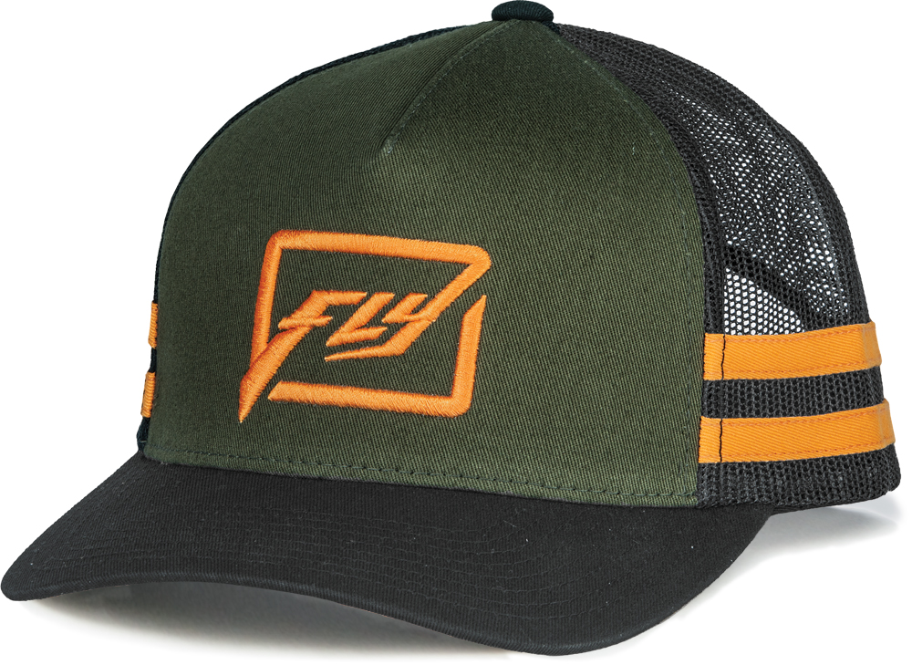 HUCK IT YOUTH HAT (ARMY/ORANGE)