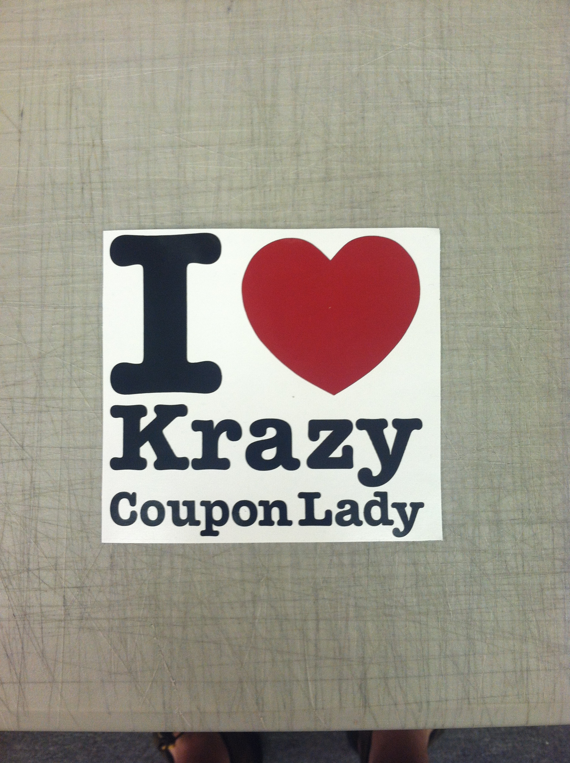 (1) I love Krazy coupon lady sticker