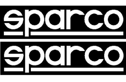 "(1) ""Sparco"" Racing Decal Sticker (New) X 2 sticker"