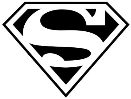 "(1) Superman Logo 12"" Decal Sticker"