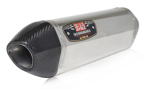 Yoshimura R-77 Stainless/Stainless Single Slip-On Exhaust W/ Carbon Fiber End-cap 07-08 Suzuki GSXR1000