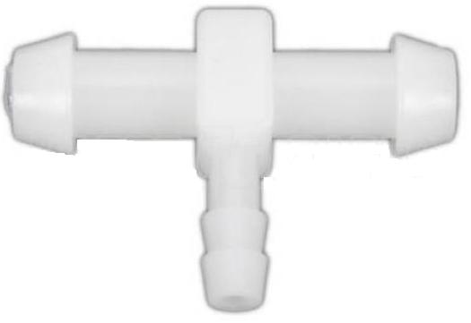Plastic Carb Primer T-Fitting 1/4 inch x 1/4 inch x 1/8 inch