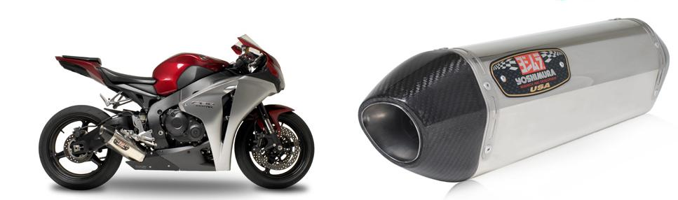 Yoshimura R-77 Stainless/Stainless Slip-On Exhaust W/ Carbon End-cap 08-09 Honda CBR1000RR