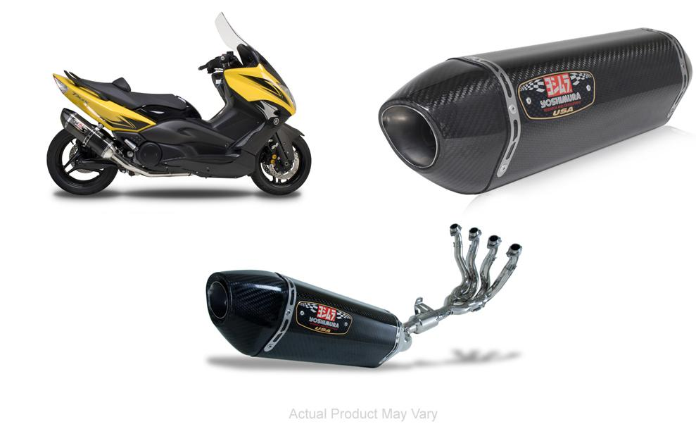 Yoshimura R-77 Stainless/Carbon Full Exhaust System 08-09 Yamaha T max 500