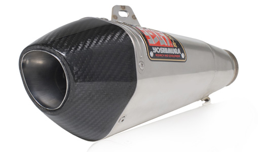 Yoshimura R-55 GP Style Stainless/Stainless Full System Exhaust W/ Carbon Fiber cap 06-07 Suzuki GSXR600