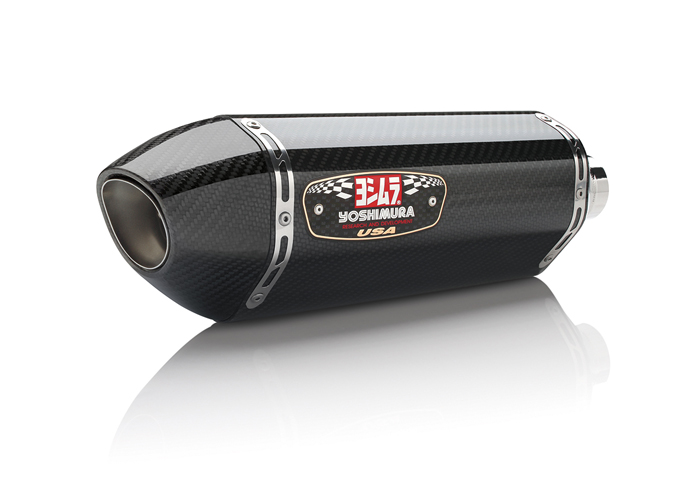 Yoshimura R77 carbon fiber slip on exhaust silencer for can am spyder