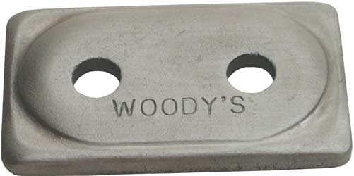 WOODYS DIGGER SUPPORT PLATES DOUBLE DIGGER ALUMINUM