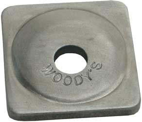 WOODYS DIGGER SUPPORT PLATES ANGLE ALUMINUM