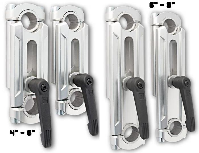 "Rox Speed Fx 4 to 6 or 6 to 8.25 Inch SE Elite Height Adjustable Handle bar Risers for 7/8"" or 1-1/8"" Fat bars Riser"