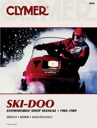 Clymer Snowmobile Manual Ski-Doo : All Watercooled Twins 85-89