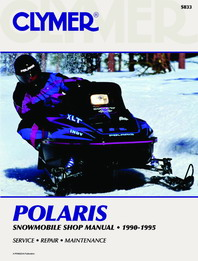Clymer Snowmobile Manual Polaris : All Indy Models (except Lite & Storm) 90-95