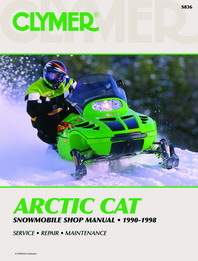 Clymer Snowmobile Manual Atric Cat : 440, 550, 580, & 600 90-98