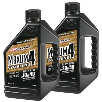 Maxima Maxum 4 Synthetic Blend 10w40 Or 20w50 - 1 Gallon