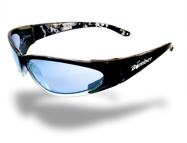 Bomber Sunglasses Floating 2 Tone Smoke/Light Blue Cherry Bomb
