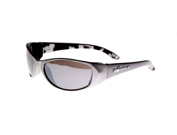 Bomber Sunglasses Floating Mettallic Silver/Smoke D-Bomb