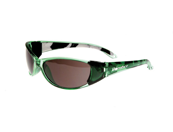 Bomber Sunglasses Floating Crystal Green/Smoke D-Bomb