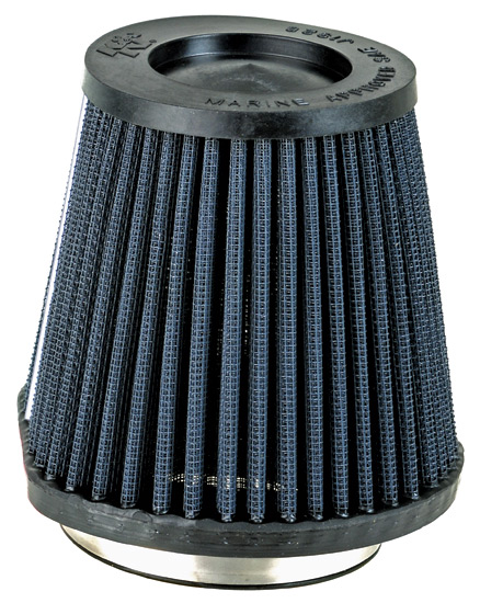 "K&N 59-2040RK Marine Flame Arrestor, Black - Race Specific 2-3/4""FLG, MARINE RACING BLACK - RACE SPECIFIC"