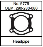 Gasket Technology 98-up Seadoo 951 Silver motor Headpipe Gasket
