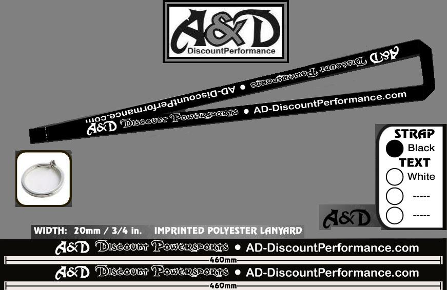 A&D Discount Performance key Lanyard