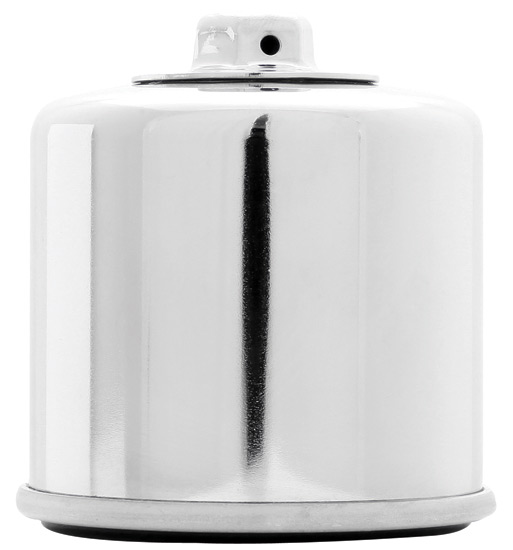 K&N KN-138C Oil Filter Chrome OIL FILTER; POWERSPORTS