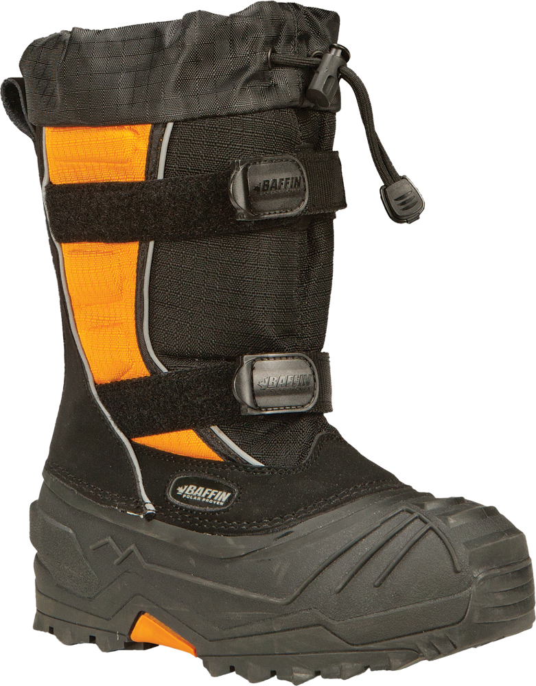 YOUTH EIGER BOOTS BLACK/ORANGE SZ 1