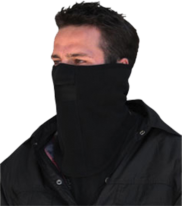 FACE MASK MICROFLEECE W/MESH MOUTH BLACK