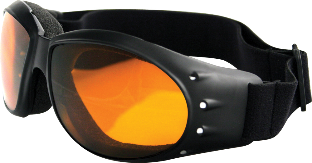 SUNGLASSES CRUISER BLACK W/AMBER LENS