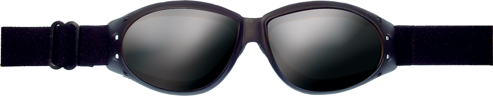 SUNGLASSES CRUISER BLACK W/SMOKE REFLECTIVE LENS