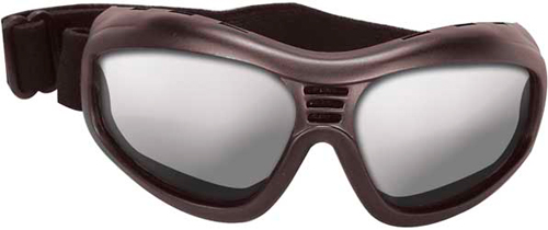 SUNGLASSES TOURING II BLACK W/CLEAR LENS