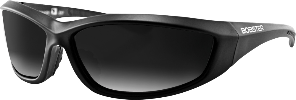 CHARGER SUNGLASSES BLACK W/SMOKE LENS