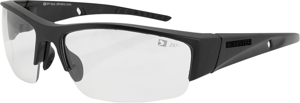 RYVAL SUNGLASSES BLACK W/CLEAR LENS