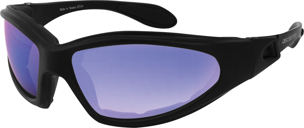GXR SUNGLASSES BLACK W/SMOKED CYAN MIRROR LENS