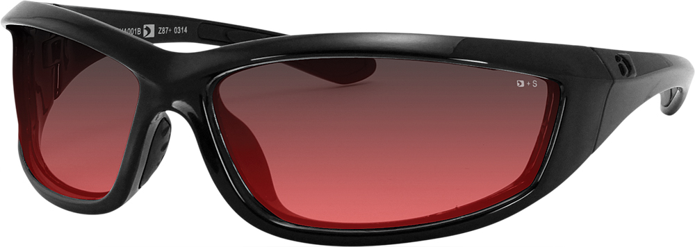 CHARGER SUNGLASSES BLACK W/ROSE LENS