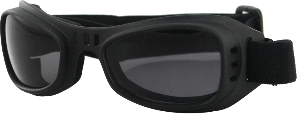 SUNGLASSES ROAD RUNNER GOGGLE BLACK W/SMOKE LENS