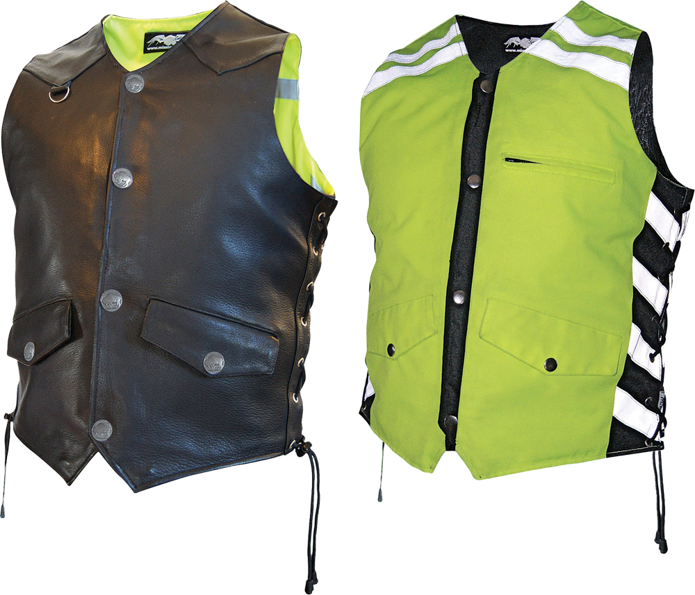 D.O.C. REVERSIBLE SAFETY VEST BLACK/HI-VIZ MENS M