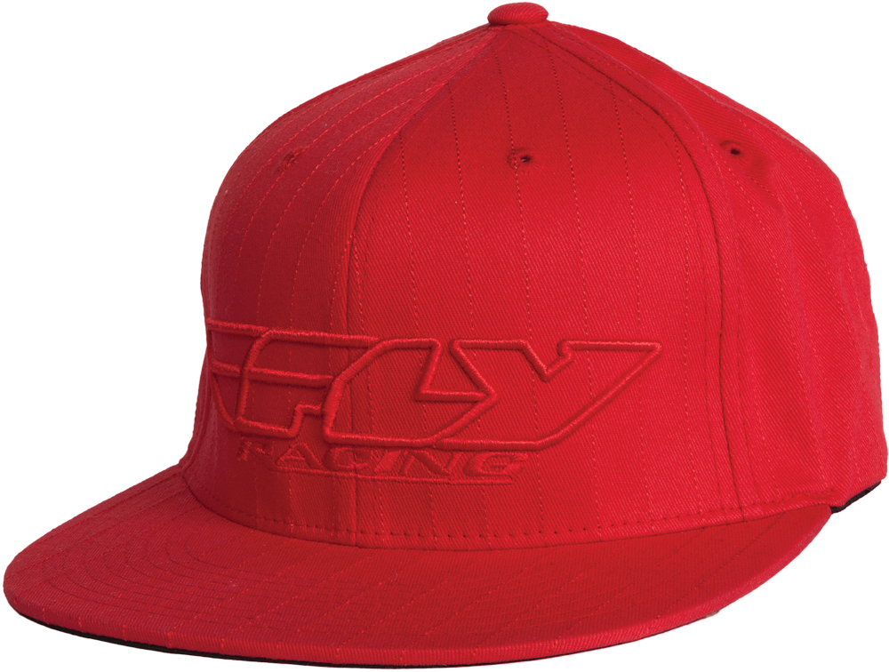 CORP. PIN STRIPE HAT RED S/M