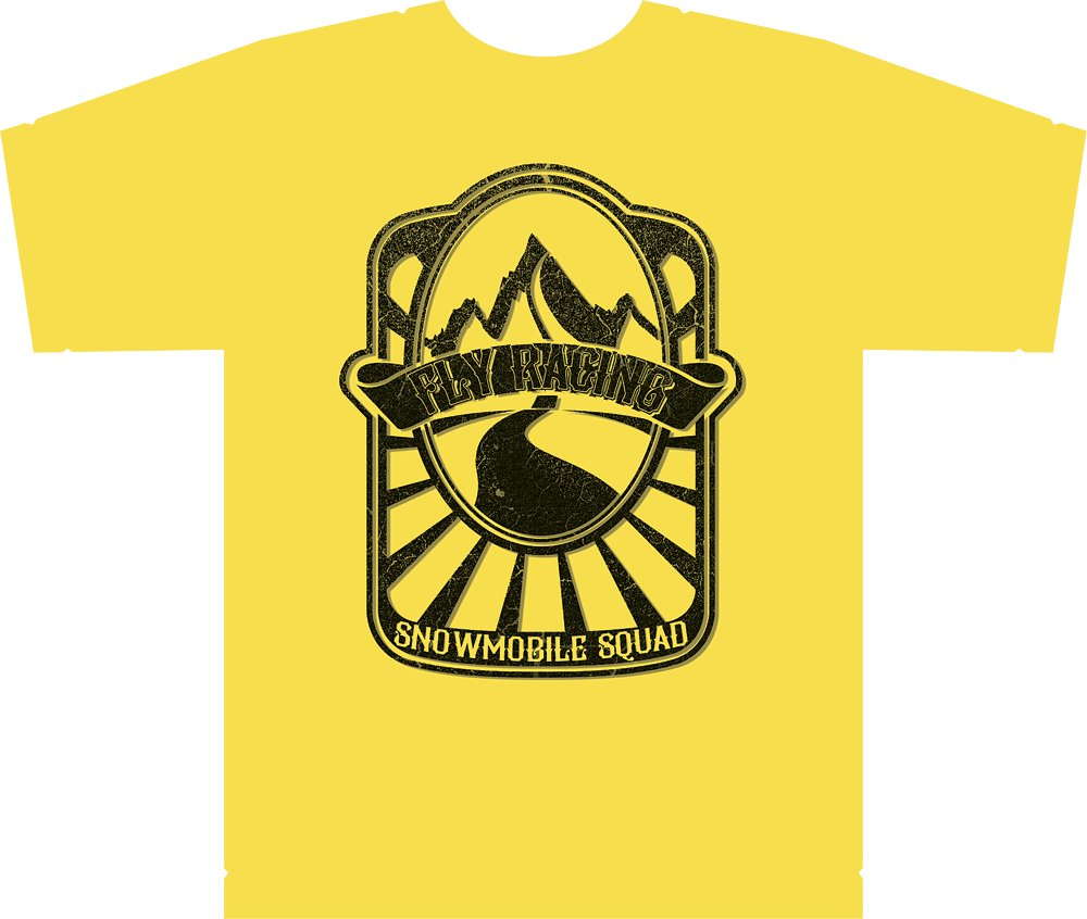 SQUAD SNOW TEE YELLOW MD