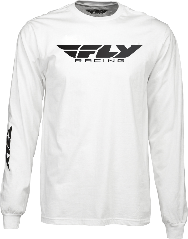 CORPORATE L/S TEE WHITE 2X