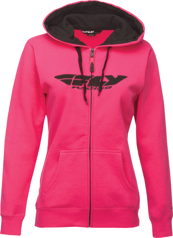 CORPORATE LADIES ZIP UP HOODIE PINK 2X