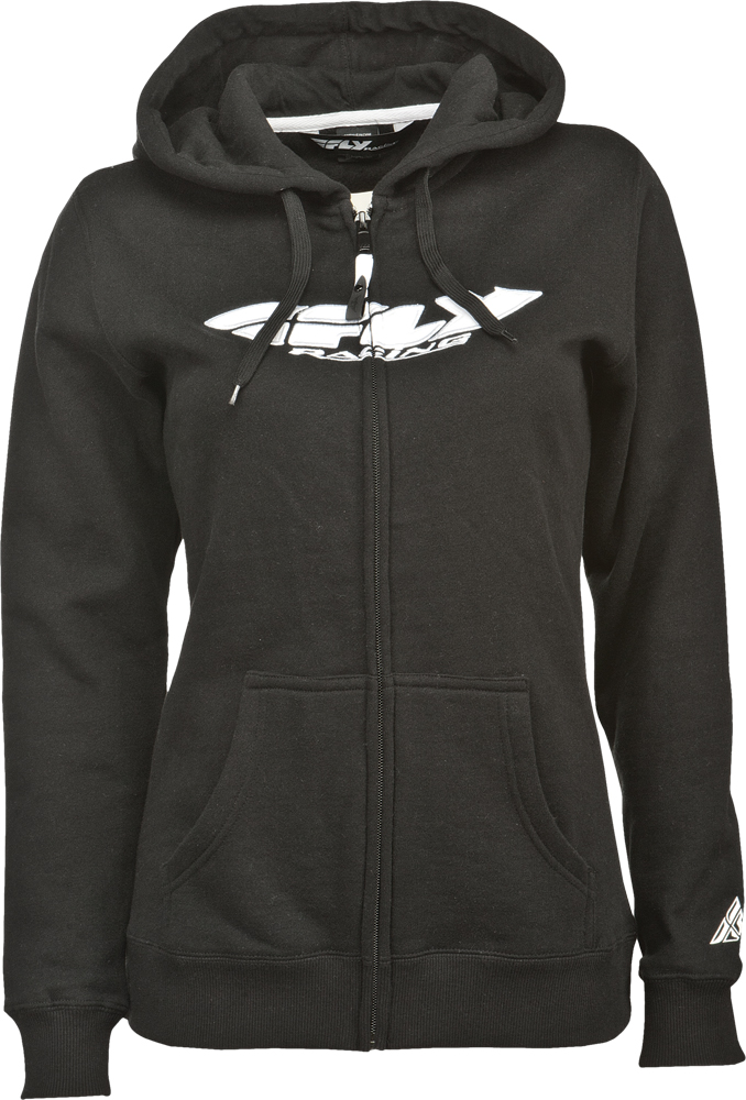 CORPORATE LADIES ZIP UP HOODIE BLACK 2X
