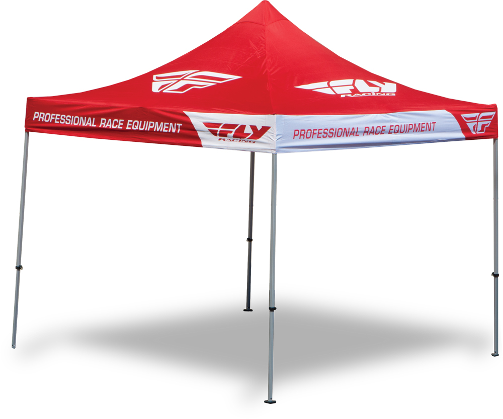 ALUMINUM CANOPY W/HEAVY DUTY FRAME RED 10 X10