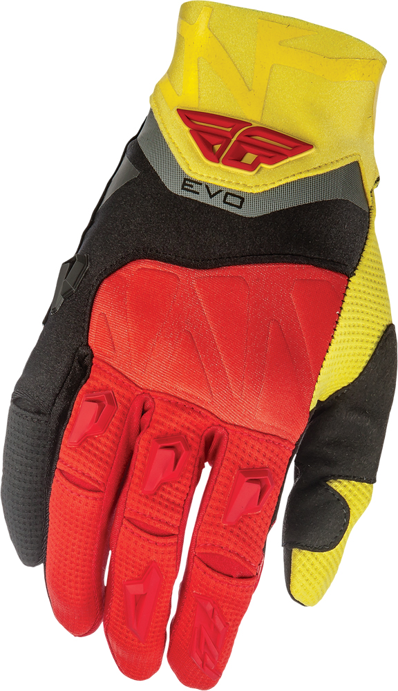 EVOLUTION GLOVES BLACK/RED/YELLOW SZ 7