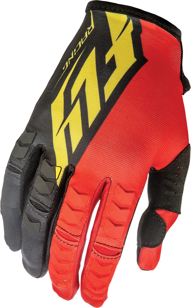 KINETIC GLOVES RED/BLACK/YELLOW SZ 8