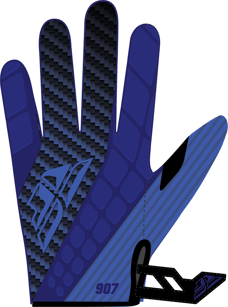 907 NEOPRENE GLOVES BLUE/BLACK SZ 10