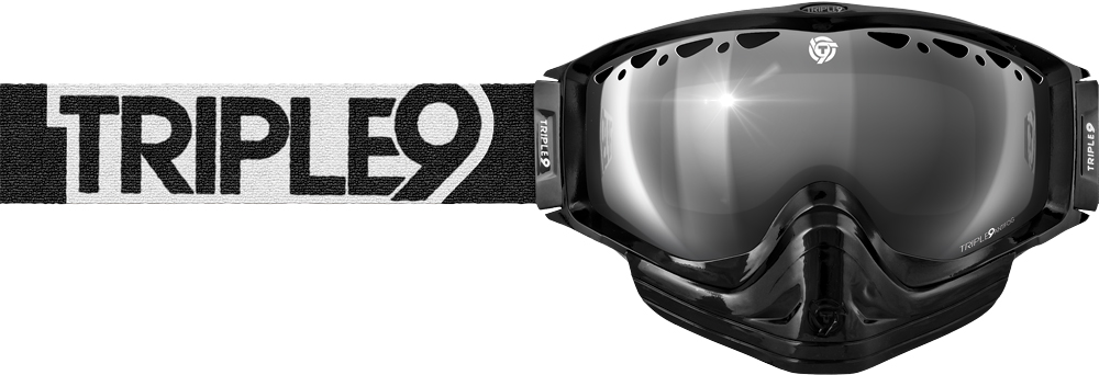 SWITCH GOGGLE BLACK/WHITE W/ CHROME/ROSE LENS